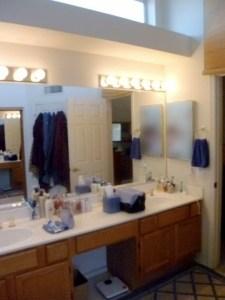Moore before vanity sink area