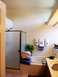 Moore shower tub wall