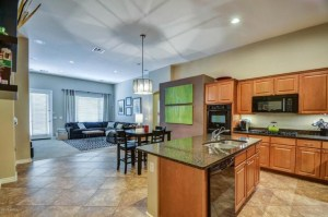 Open view to Family Breakfast Kitchen areas